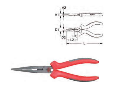 ULTIMATE + LONG NOSE PLIERS, 165MM