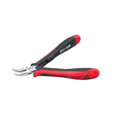 ESD long-nose pliers – curved – without cut