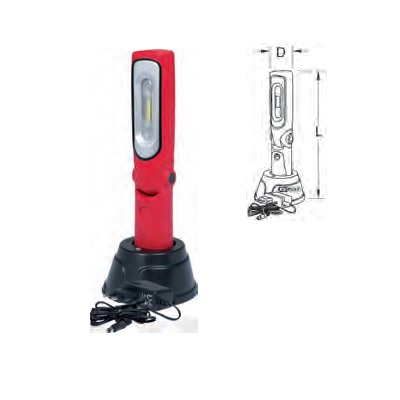 CORDLESS WORKING LAMP, FOLDABLE 6W, 3, 6 V, 3600 MAH