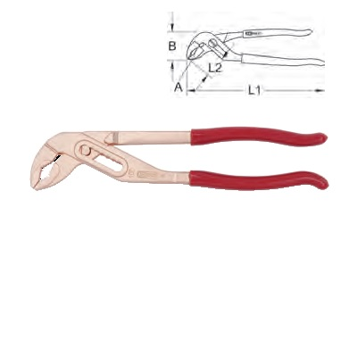 BERYLLIUM + WATER PUMP PLIERS 250 MM